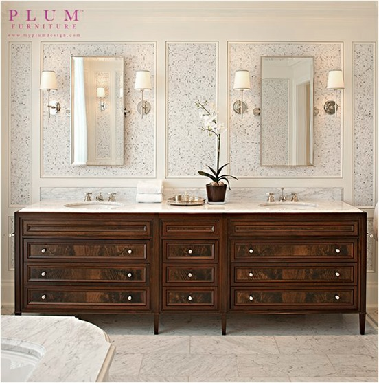Trend dark stained bathroom vanity