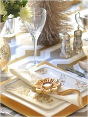 silver gold table