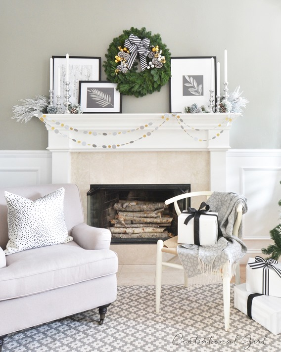 christmas mantel centsational girl