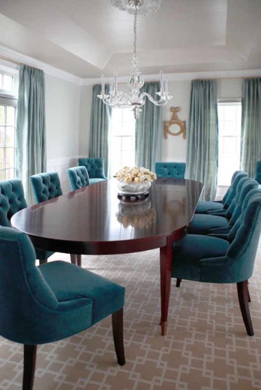 teal velvet dining chairs