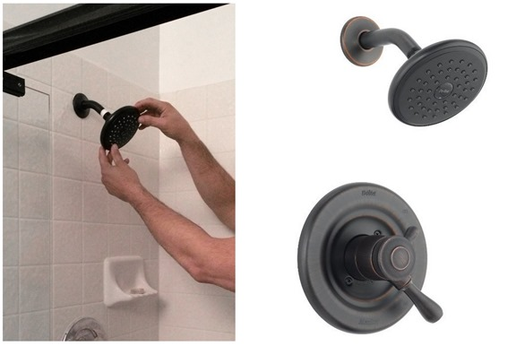 delta shower head and dial