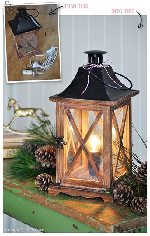 diy lantern lamp