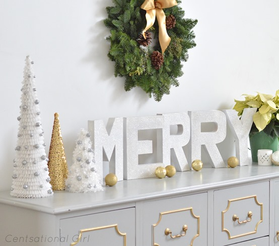 merry letters and trees