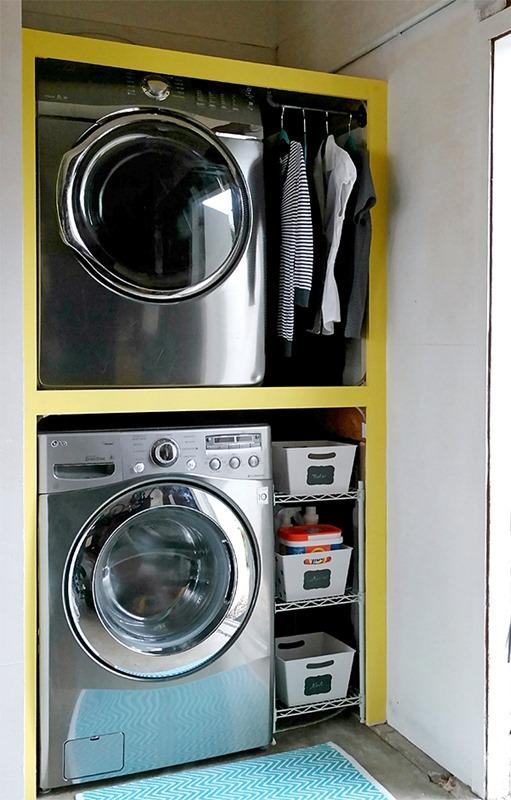 built in garage laundry center