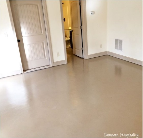 concrete floor southern hospitality