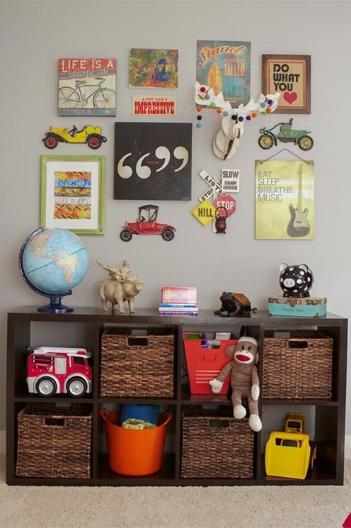 expedit and art display kids room