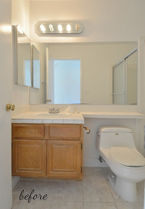 Marvelous hall bathroom before