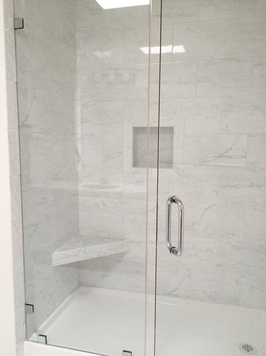 marble tile walk in shower frameless shower door