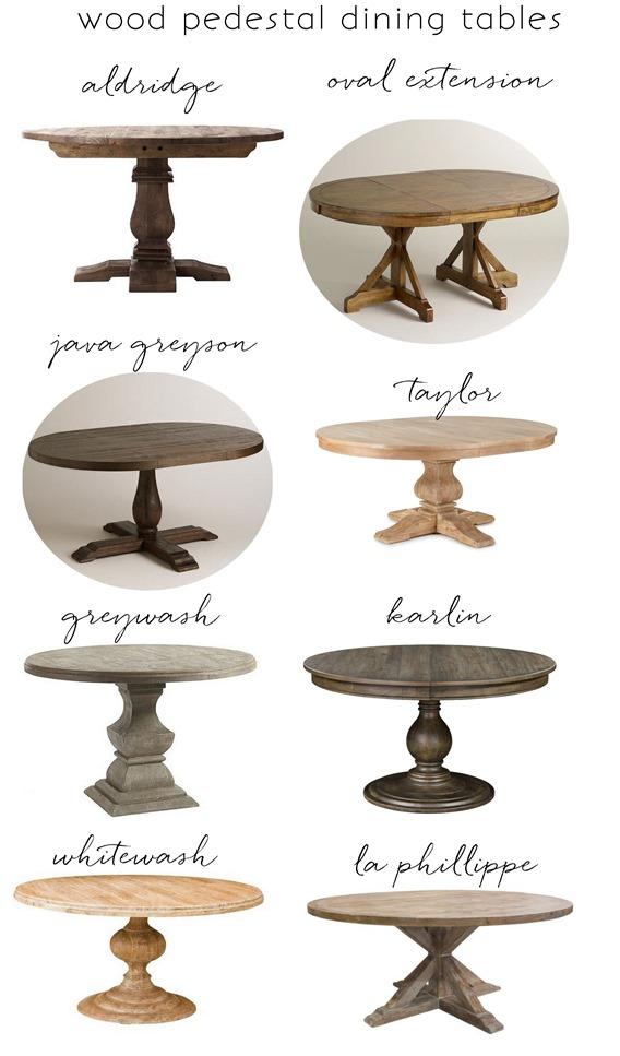 wood pedestal dining tables