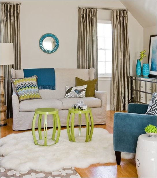 Analogous Room decorating with analogous color | centsational style