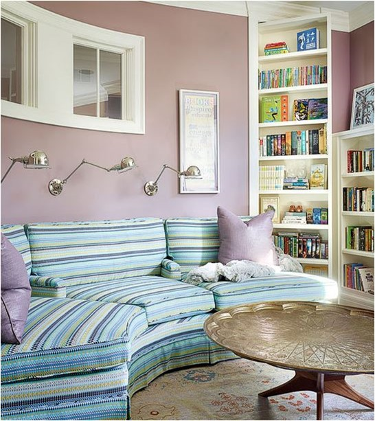 lavender blue green sitting room