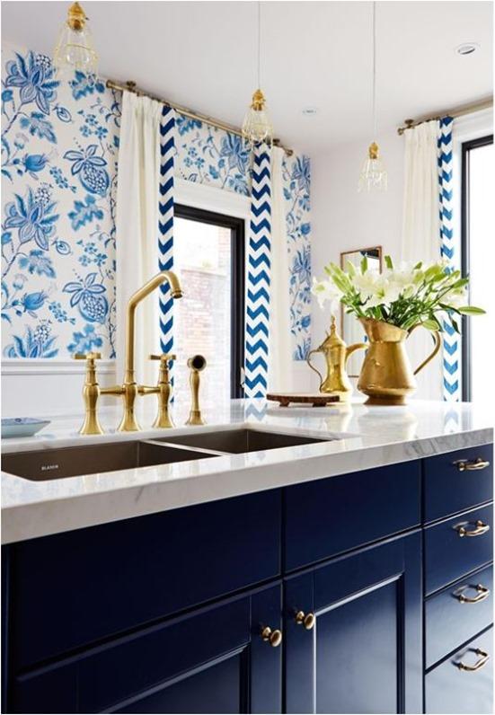 Blue Cabinets Brass Hardware Sarah Richardson. Cabinet Knobs