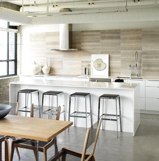 Cute kitchen countertop waterfall island edge