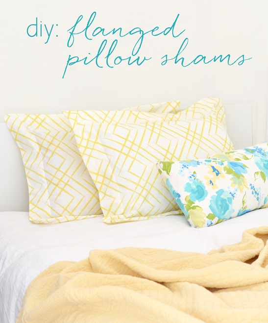 diy flanged pillow shams