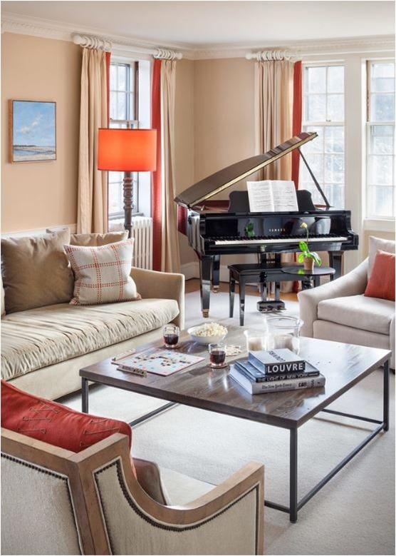 grand piano in corner