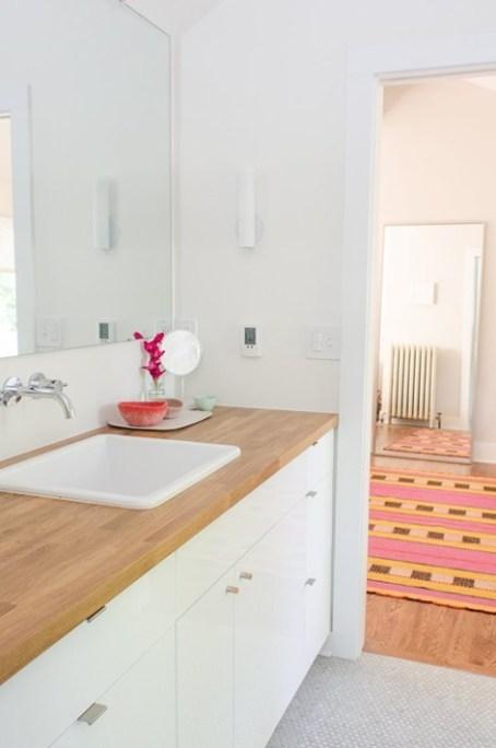 wood countertop for bathroom vanity Wood Countertops In Bathrooms Centsational Style