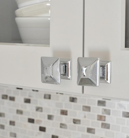 polished chrome knobs