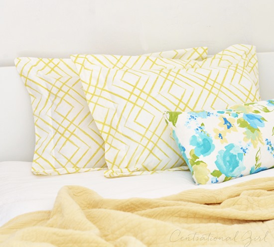 diy flanged pillow shams centsational girl. Black Bedroom Furniture Sets. Home Design Ideas