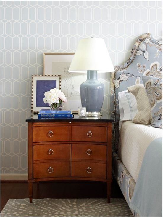 traditional wood bedside chest