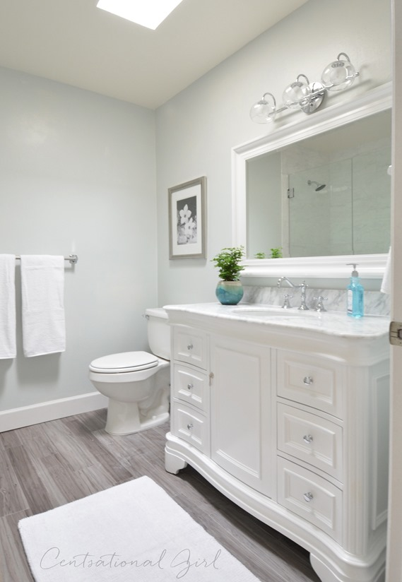 Beautiful Here us the tour on this pleted bathroom remodel