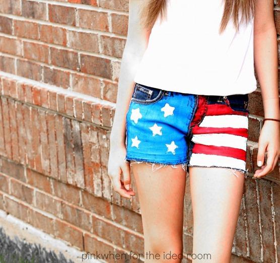patriotic jean shorts