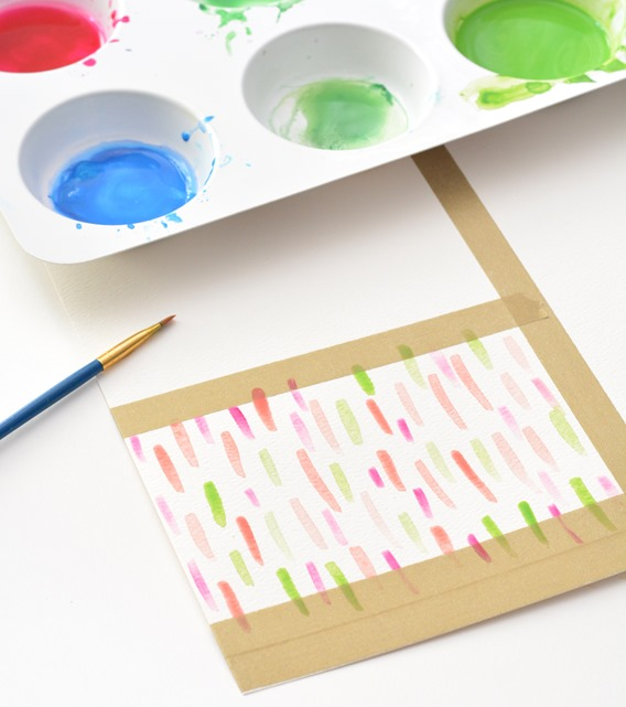 abstract watercolor brushstrokes