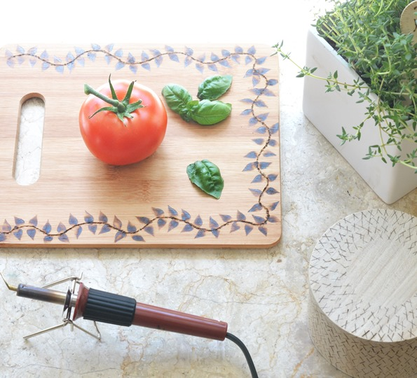 crafting with wood burning tool