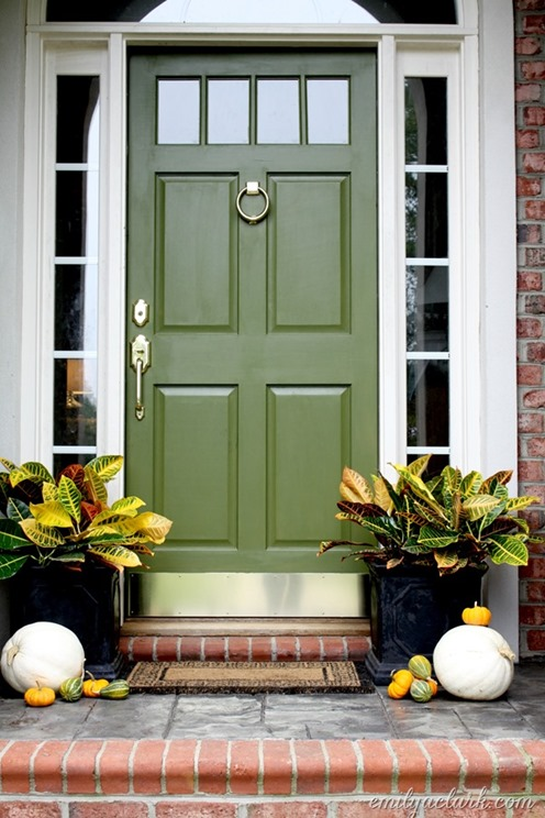 jungle green front door