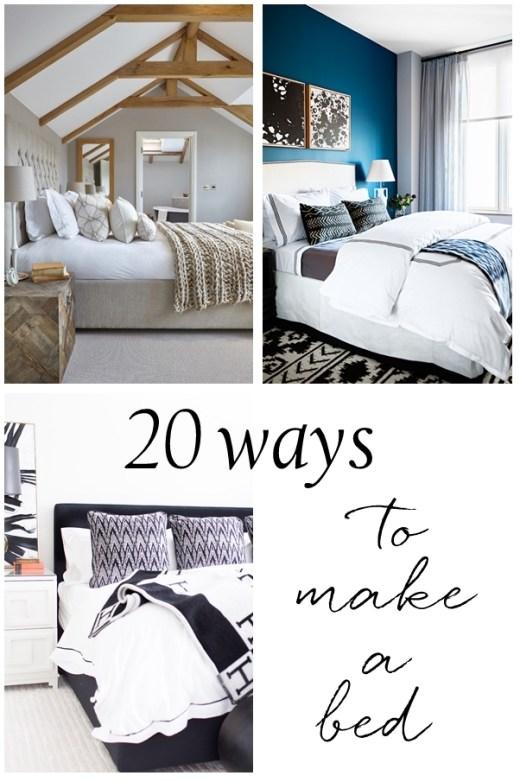 20 maneras de hacer una cama