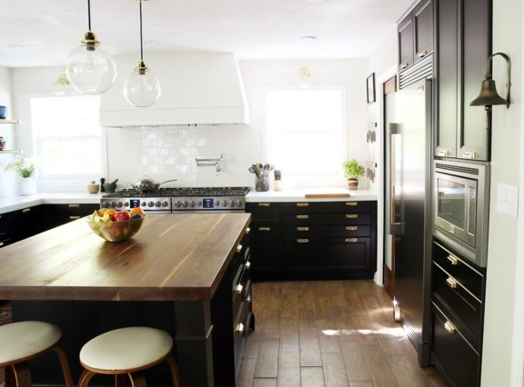 black and white kitchen makeover