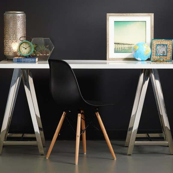 chrome laquer desk