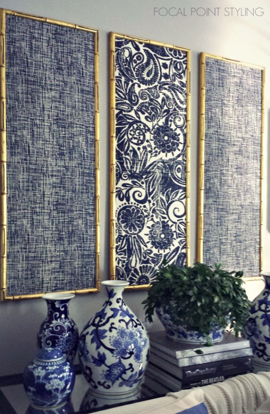 indigo framed wall panels