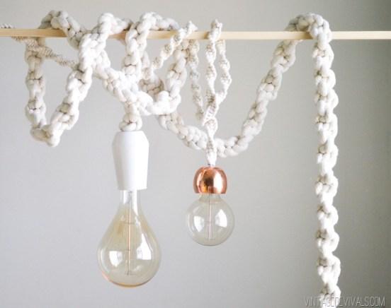 macrame rope lights