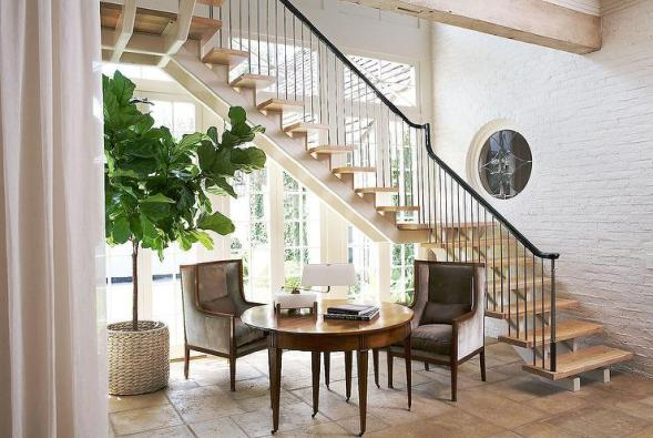 sitting space under stairs