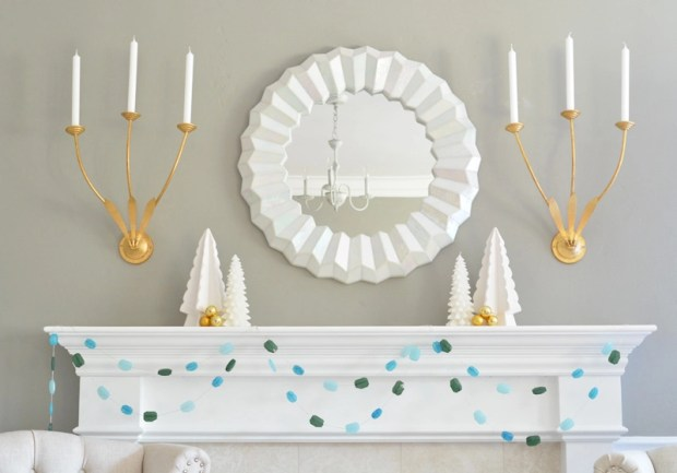 gemstone-garland-on-mantel