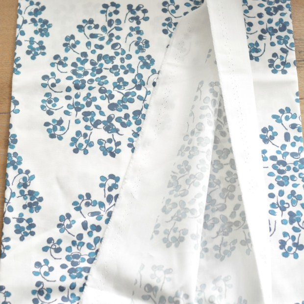 strip of fabric raw edges