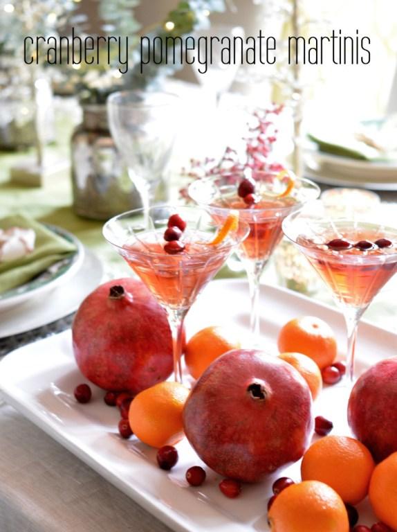cranberry pomegranate martinis