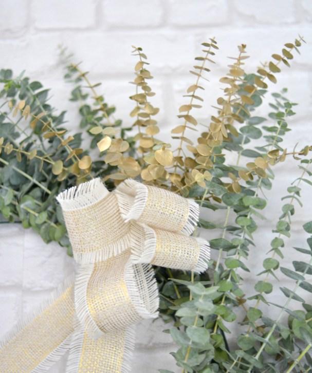 gold eucalpytus leaves
