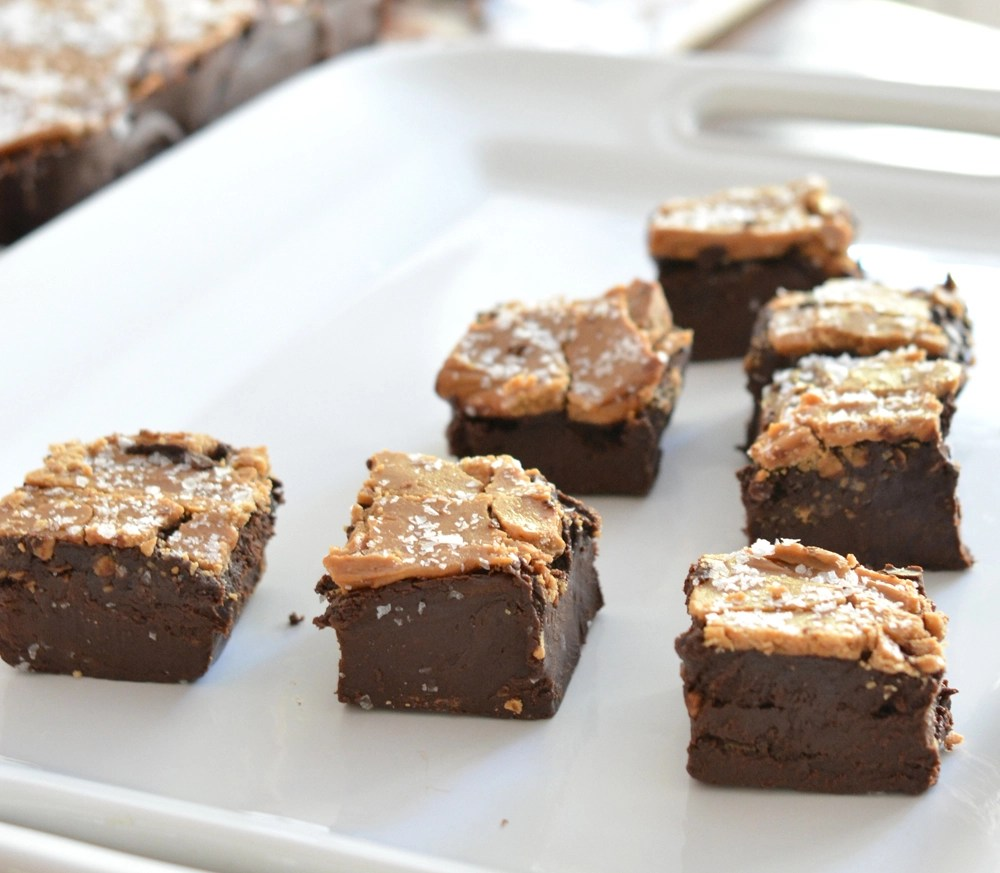 sea salt caramel fudge squares