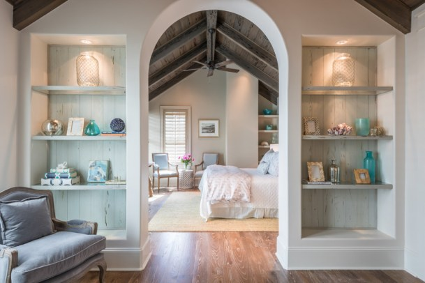 arched entry coastal home