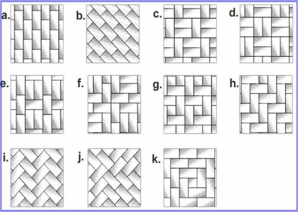 brick pattern layout