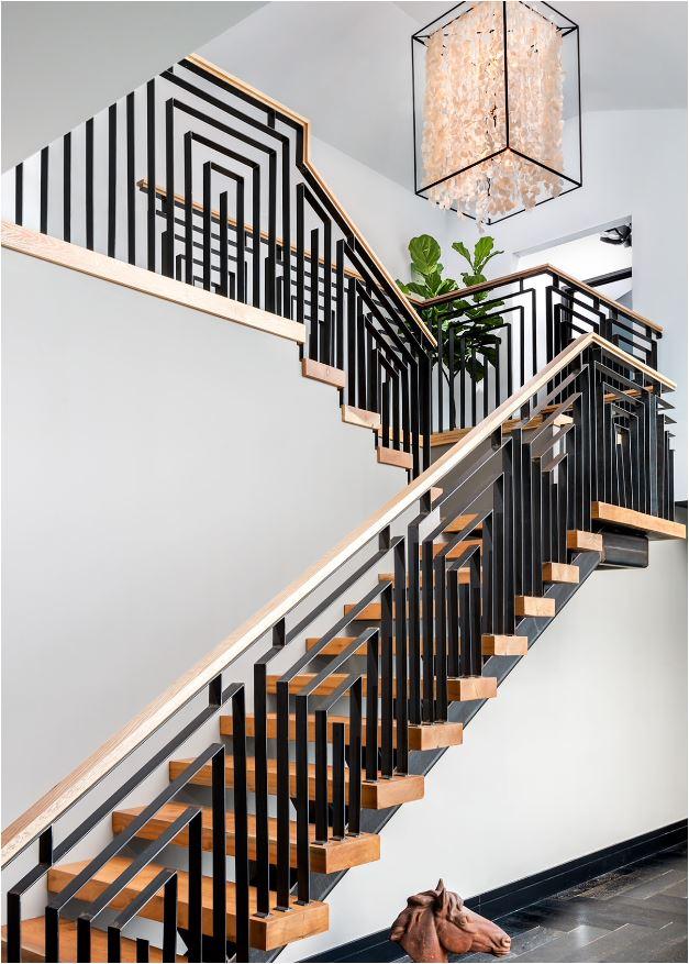Geometric Metal Balustrade