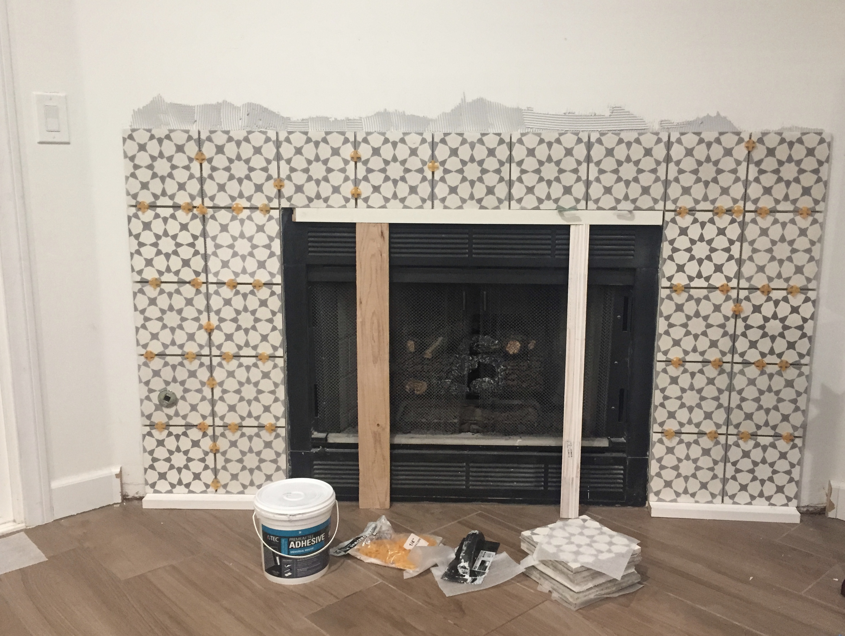 Tile Fireplace Makeover Best Picture Of Tile For Fireplace Surround All Can Download All