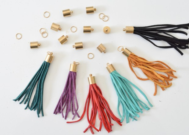diy colorful leather tassels