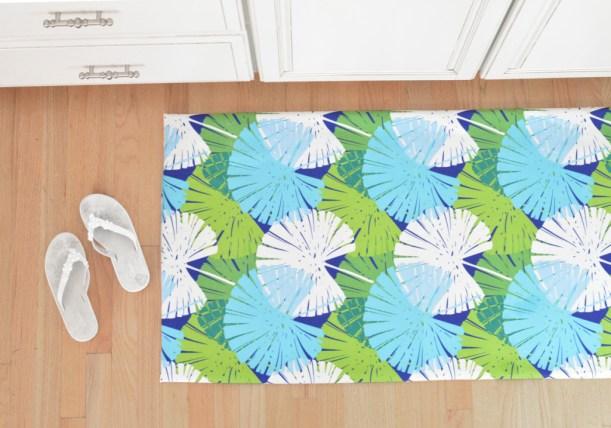 palm print floor mat