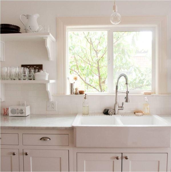 white apron sink