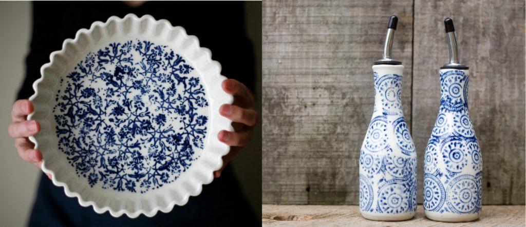 blue and white ceramics