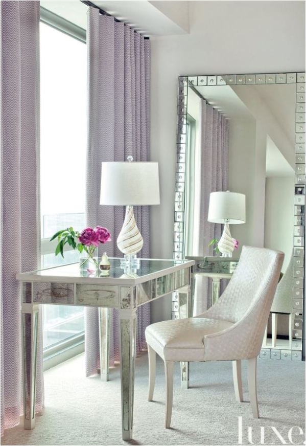 lavender window panels