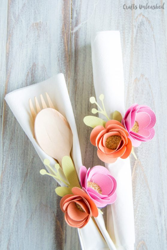 paper flower napkin rings