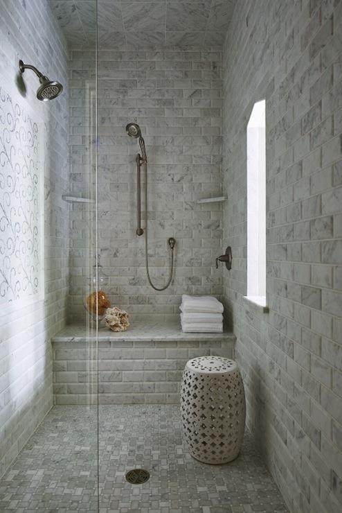 walk in shower plus window